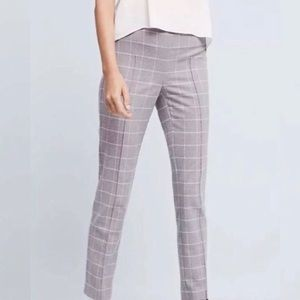 Anthropologie Cartonier Gray Plaid Ankle Pants